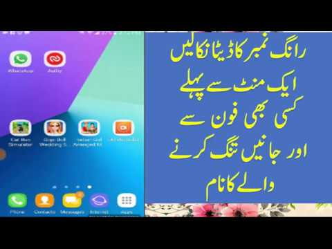 How to check wrong number data or who called