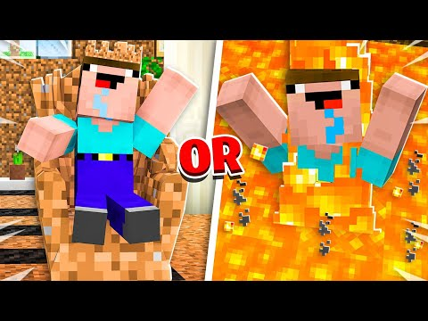Noob1234 vs EXTREME Minecraft Would You Rather!