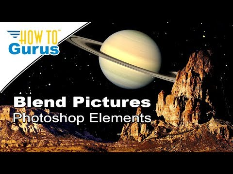 Photoshop Elements Blending Pictures: Create a Saturn Landscape in 2018 15 14 13 12 Tutorial