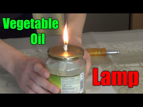 How to make a VEGETABLE OIL LAMP