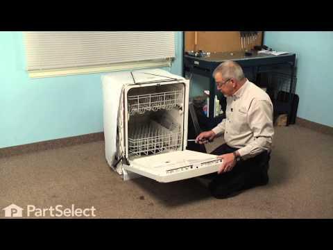 Dishwasher Repair - Replacing the Exterior Door Panel/Front Panel (Whirlpool Part # W10301577)