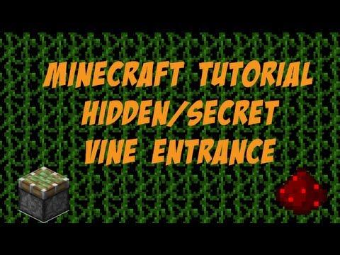 MineCraft Tutorials: Secret/Hidden Vine Entrance