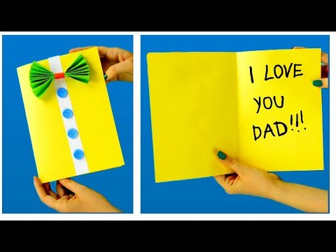 Father's Day Card For Kids ♥ Easy Homemade Father's Day Card ♥ Ideas Diy Father's Day Card