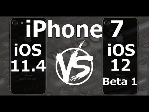 Speed Test : iPhone 7 - iOS 12 Beta 1 vs iOS 11.4 (iOS 12 Beta 1 Build 16A5288q)
