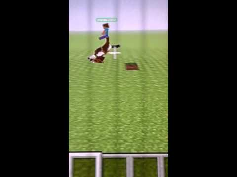 Upside down  horse in minecraft  ps3