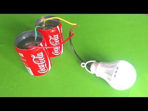 Free energy light bulb using salt