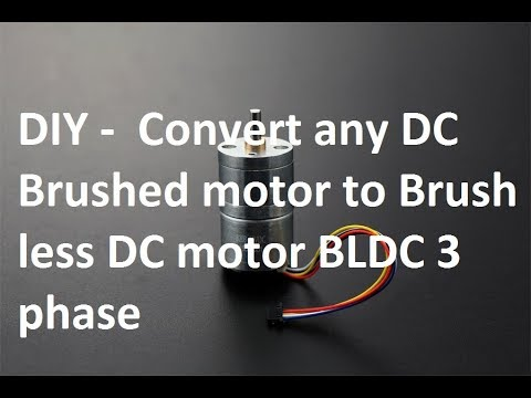 How to Make Brush less DC Motor from DC motor DIY .