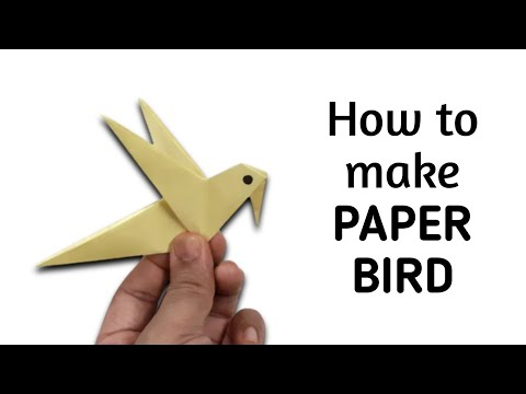 How to make an origami paper bird - 3 | Origami / Paper Folding Craft, Videos & Tutorials.