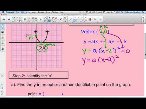 Find Equation of parabola given vertex and point