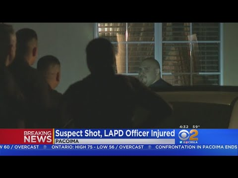 Suspect Shot, LAPD Officer Injured In Pacoima