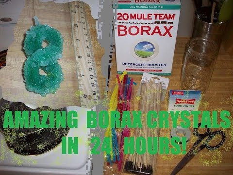 Make BORAX Crystals in Less Than 24 Hours - A Very Easy DIY Guide!!