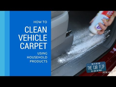 How to Clean Vehicle Carpet with Household Products