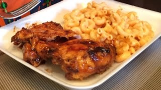 Boneless Chicken Thighs With Barbeque Sauce