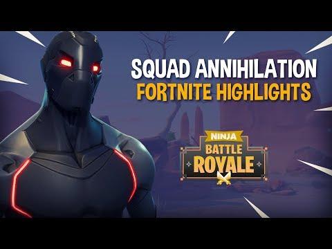 Squad Annihilation!! - Fortnite Battle Royale Highlights - Ninja