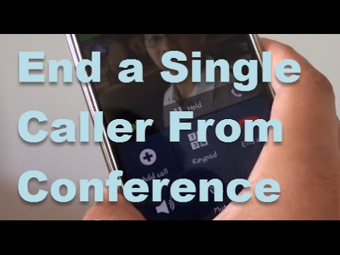 Samsung Galaxy S4: How to End Seperate Caller from a Merge / Conference Call