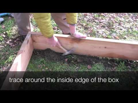 How to build a raised vegetable bed on a hillside