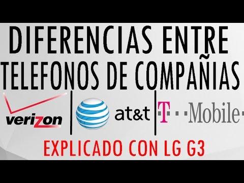 Diferencias entre moviles de AT&T, Tmobile, Verizon explicado con LG G3