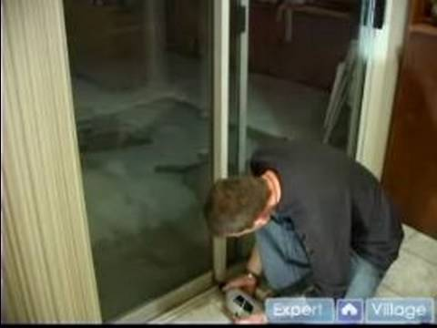 Installation Tips for Sliding Glass Doors : Drilling a Base Hole to Instal a Sliding Glass Door Lock