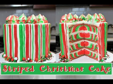 Striped Christmas Cake | CHELSWEETS