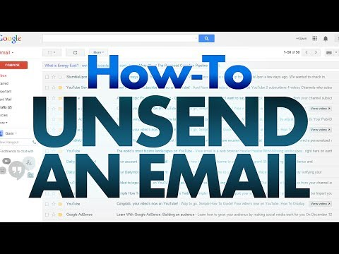 How to Unsend an Email with Gmail