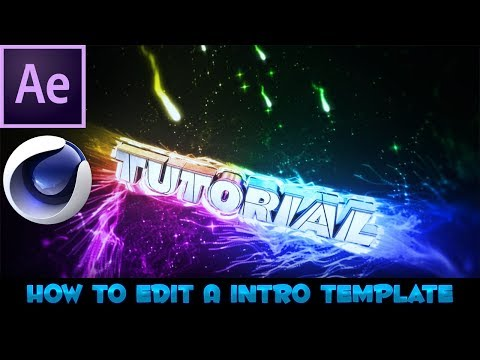 How To Edit A Intro Template On After Effects And Cinema4D(2017)!