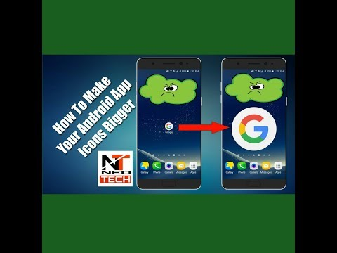 How To Make Icons Bigger On Android