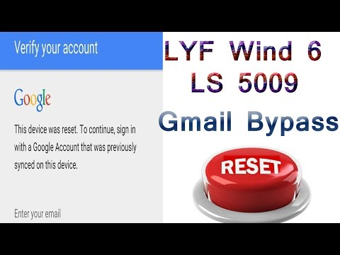 Relince LYF Wind 6 LS 5009 Google Account Verification