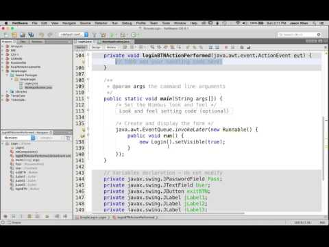 Beginner Java Tutorial: Login GUI using NetBeans IDE