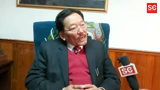 SDF Party President Pawan Chamling speaks on different political issues of Sikkim.