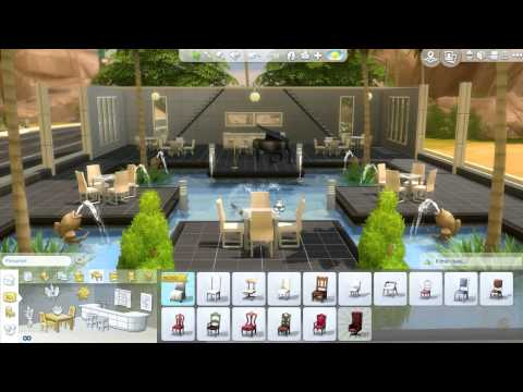 The Sims 4 - Build Mode Speed Run [Modern Bar]