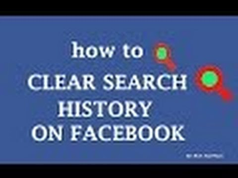 how to clear search history on facebook / how to delete search history from facebook
