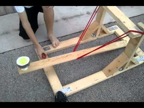 How to make a Water balloon launcher for physics