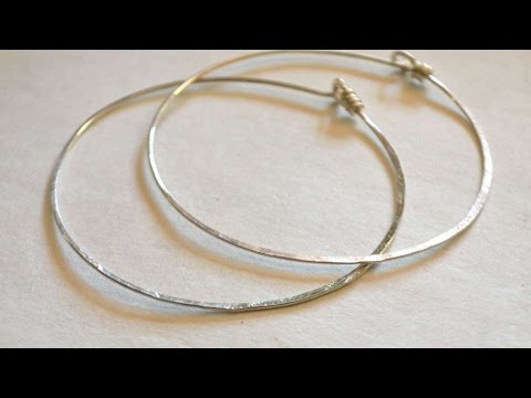 How To Make Simple Hammered Sterling Hoop Earrings - DIY Style Tutorial - Guidecentral