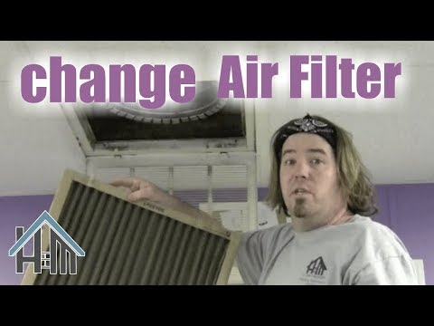 How to replace your air filter and why. Easy! Home Mender.
