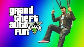 GTA 5 Online Funny Moments Gameplay - Secret IAA Building, Parachute Fails (Hidden Office Fun!)