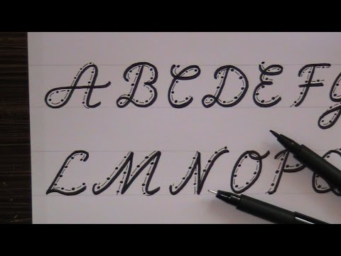 cursive fancy letters - how to write cursive fancy letters for beginners