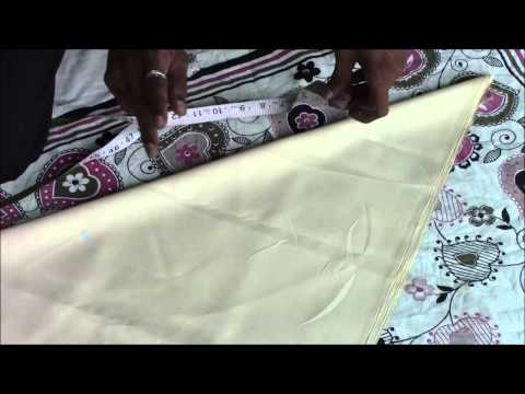 Anarkali Dress Tutorial - Part 2 (Chudi Cutting)