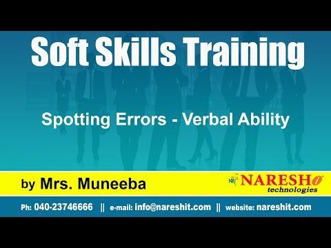 Spotting Errors - Verbal Ability | Soft Skills Training