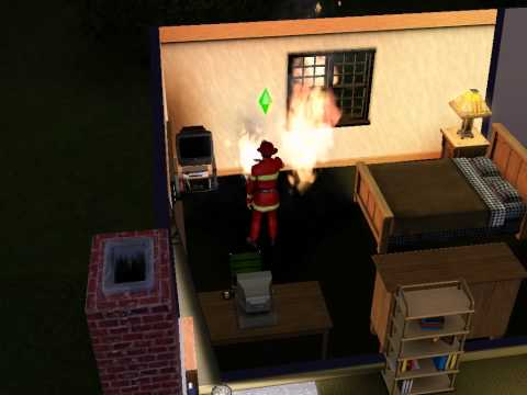 The Sims 3 - Ambitions | Fire fighter fighting a fire