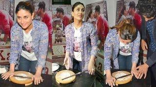 Kareena Kapoor Making Roti At Ki And Ka Movie Promotion