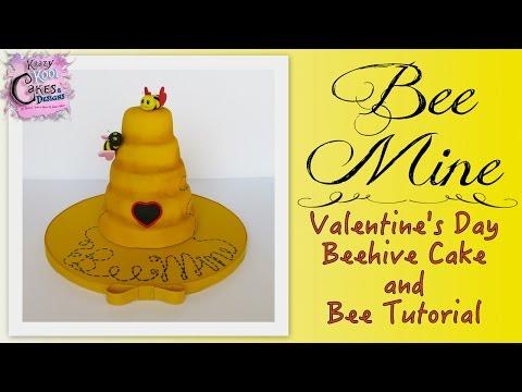 Bee Mine Valentine's Day Cake - EASY HOW TO