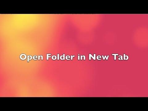 Open Folder in New Tab on Mac (Shortcut)