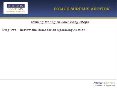 How to Make Money Buying and Selling at Police Surplus Auctions