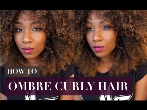 HOW TO COLOR HAIR AT HOME | HOW TO OMBRE CURLY HAIR