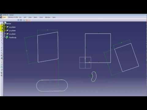 Designing software catia cad v5 tutorial 1 (Basics) (How to design a car basics)