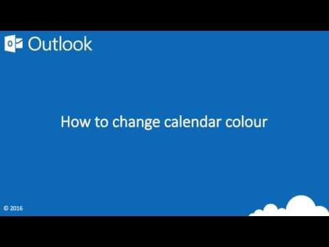How to change calendar colour in Outlook