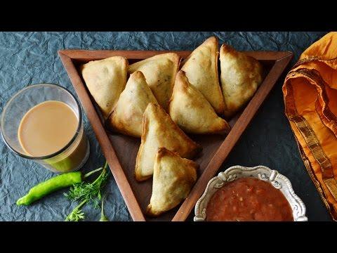 Baked samosa recipe - how to make samosa in oven using whole wheat