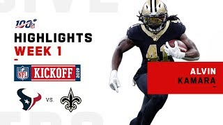 Alvin Kamara Finishes Strong w/ 169-Yd Night!   NFL 2019 Highlights