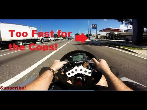 Shifter Go Kart 90 mph on the Street vs the Police in Florida