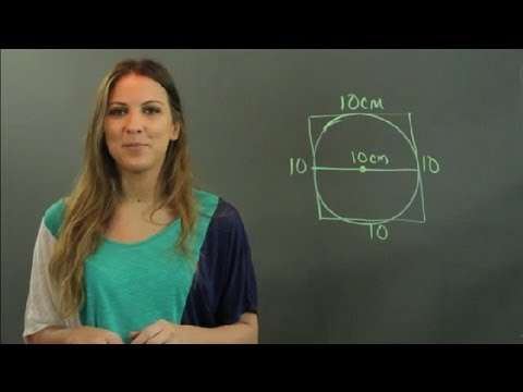 How to Determine the Length of a Square Using the Diameter : Math & Shapes